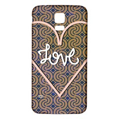 I Love You Love Background Samsung Galaxy S5 Back Case (White) by Simbadda