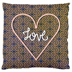 I Love You Love Background Standard Flano Cushion Case (two Sides) by Simbadda