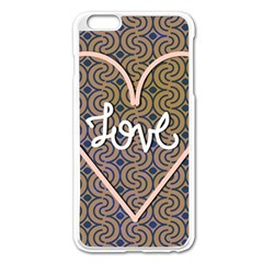 I Love You Love Background Apple Iphone 6 Plus/6s Plus Enamel White Case by Simbadda