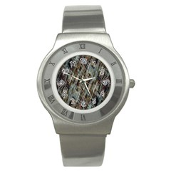 Abstract Chinese Background Created From Building Kaleidoscope Stainless Steel Watch by Simbadda