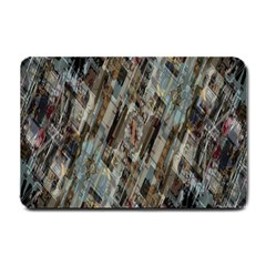 Abstract Chinese Background Created From Building Kaleidoscope Small Doormat  by Simbadda