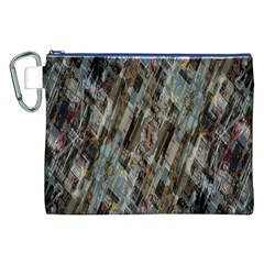 Abstract Chinese Background Created From Building Kaleidoscope Canvas Cosmetic Bag (xxl) by Simbadda