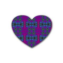 Purple Seamless Pattern Digital Computer Graphic Fractal Wallpaper Heart Coaster (4 Pack)  by Simbadda