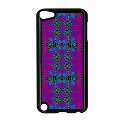 Purple Seamless Pattern Digital Computer Graphic Fractal Wallpaper Apple iPod Touch 5 Case (Black)