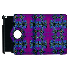 Purple Seamless Pattern Digital Computer Graphic Fractal Wallpaper Apple Ipad 2 Flip 360 Case by Simbadda