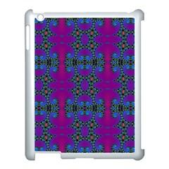 Purple Seamless Pattern Digital Computer Graphic Fractal Wallpaper Apple Ipad 3/4 Case (white) by Simbadda