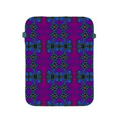 Purple Seamless Pattern Digital Computer Graphic Fractal Wallpaper Apple Ipad 2/3/4 Protective Soft Cases by Simbadda