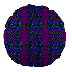Purple Seamless Pattern Digital Computer Graphic Fractal Wallpaper Large 18  Premium Flano Round Cushions by Simbadda