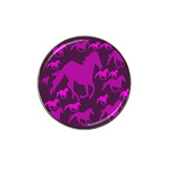 Pink Horses Horse Animals Pattern Colorful Colors Hat Clip Ball Marker (10 Pack) by Simbadda