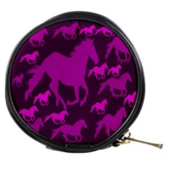 Pink Horses Horse Animals Pattern Colorful Colors Mini Makeup Bags by Simbadda
