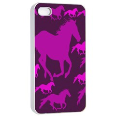Pink Horses Horse Animals Pattern Colorful Colors Apple Iphone 4/4s Seamless Case (white) by Simbadda