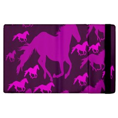 Pink Horses Horse Animals Pattern Colorful Colors Apple Ipad 3/4 Flip Case by Simbadda