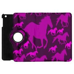 Pink Horses Horse Animals Pattern Colorful Colors Apple Ipad Mini Flip 360 Case by Simbadda