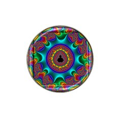 3d Glass Frame With Kaleidoscopic Color Fractal Imag Hat Clip Ball Marker (10 Pack) by Simbadda