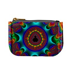 3d Glass Frame With Kaleidoscopic Color Fractal Imag Mini Coin Purses