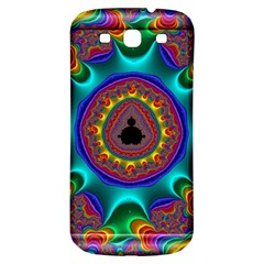 3d Glass Frame With Kaleidoscopic Color Fractal Imag Samsung Galaxy S3 S Iii Classic Hardshell Back Case by Simbadda