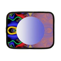 Texture Circle Fractal Frame Netbook Case (small)  by Simbadda