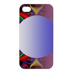 Texture Circle Fractal Frame Apple Iphone 4/4s Premium Hardshell Case by Simbadda