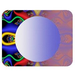 Texture Circle Fractal Frame Double Sided Flano Blanket (medium)  by Simbadda