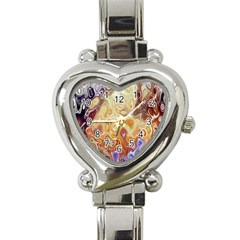 Space Abstraction Background Digital Computer Graphic Heart Italian Charm Watch by Simbadda