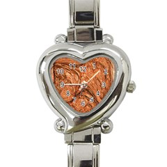 3d Glass Frame With Fractal Background Heart Italian Charm Watch by Simbadda