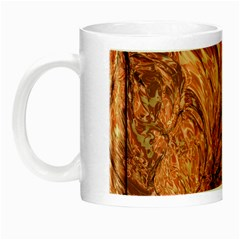 3d Glass Frame With Fractal Background Night Luminous Mugs