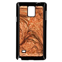 3d Glass Frame With Fractal Background Samsung Galaxy Note 4 Case (black)