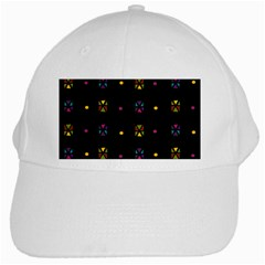 Abstract A Colorful Modern Illustration Black Background White Cap by Simbadda
