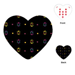 Abstract A Colorful Modern Illustration Black Background Playing Cards (heart)  by Simbadda
