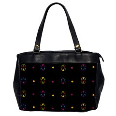 Abstract A Colorful Modern Illustration Black Background Office Handbags by Simbadda