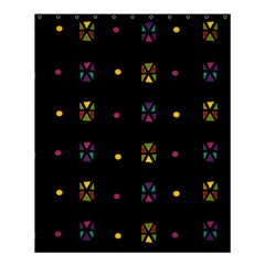Abstract A Colorful Modern Illustration Black Background Shower Curtain 60  X 72  (medium)  by Simbadda