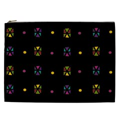 Abstract A Colorful Modern Illustration Black Background Cosmetic Bag (xxl)  by Simbadda