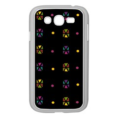 Abstract A Colorful Modern Illustration Black Background Samsung Galaxy Grand Duos I9082 Case (white)