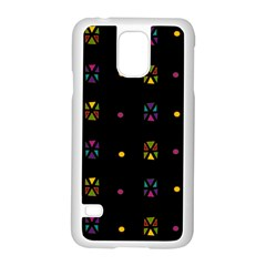 Abstract A Colorful Modern Illustration Black Background Samsung Galaxy S5 Case (white) by Simbadda