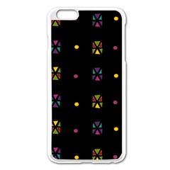 Abstract A Colorful Modern Illustration Black Background Apple Iphone 6 Plus/6s Plus Enamel White Case by Simbadda