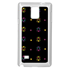 Abstract A Colorful Modern Illustration Black Background Samsung Galaxy Note 4 Case (white) by Simbadda