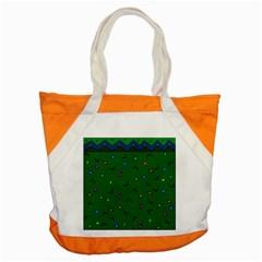 Green Abstract A Colorful Modern Illustration Accent Tote Bag by Simbadda