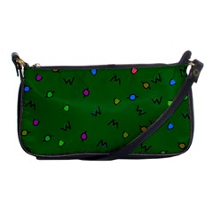Green Abstract A Colorful Modern Illustration Shoulder Clutch Bags by Simbadda