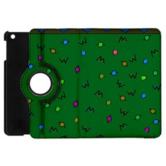 Green Abstract A Colorful Modern Illustration Apple Ipad Mini Flip 360 Case by Simbadda