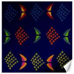 Abstract A Colorful Modern Illustration Canvas 16  X 16   by Simbadda