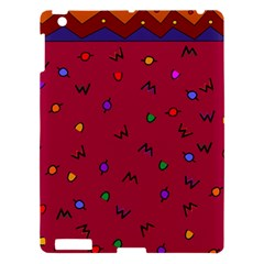 Red Abstract A Colorful Modern Illustration Apple Ipad 3/4 Hardshell Case by Simbadda