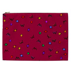 Red Abstract A Colorful Modern Illustration Cosmetic Bag (xxl)  by Simbadda