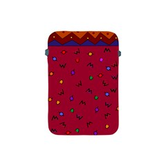 Red Abstract A Colorful Modern Illustration Apple Ipad Mini Protective Soft Cases by Simbadda