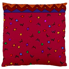 Red Abstract A Colorful Modern Illustration Standard Flano Cushion Case (one Side) by Simbadda