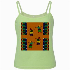 A Colorful Modern Illustration For Lovers Green Spaghetti Tank by Simbadda