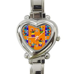 A Colorful Modern Illustration For Lovers Heart Italian Charm Watch by Simbadda