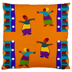 A Colorful Modern Illustration For Lovers Large Cushion Case (two Sides) by Simbadda