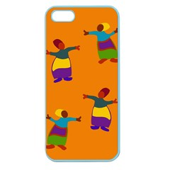 A Colorful Modern Illustration For Lovers Apple Seamless Iphone 5 Case (color) by Simbadda