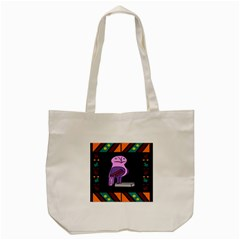 Owl A Colorful Modern Illustration For Lovers Tote Bag (cream) by Simbadda