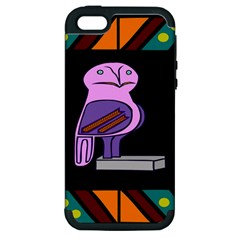 Owl A Colorful Modern Illustration For Lovers Apple Iphone 5 Hardshell Case (pc+silicone) by Simbadda